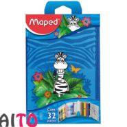 ست لوازم التحریر و نقاشی Maped تک زیپ طرح جنگل 31 تکه کد 967814