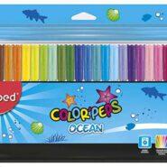 ماژیک رنگ آمیزی مپد 24 رنگ Color Peps مدل اوشن کد 845722