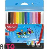 ماژیک رنگ آمیزی 12 رنگ مپد کالر پپس مدل Ocean کد 845720