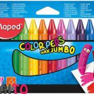 مداد شمعی جامبو مپد بسته 12 عددی سری Color Peps WAX کد 861311