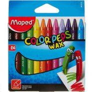 مداد شمعی 24 رنگ مپد جعبه مقوایی کالر پپس وکس کد 861013