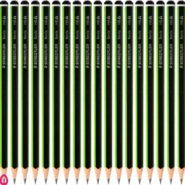 مداد مشکی HB استدلر مدل نوریس 118 بدنه سبز بسته 24 عددی