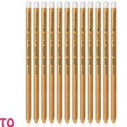 مداد پاستل سفید فابر کاستل PITT غیر چرب نرم کد 23112111 بسته 12 عددی