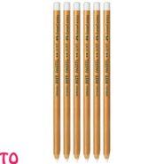 پاستل مدادی فابر کاستل سفید نرم PITT کد 23112111 بسته 6 عددی