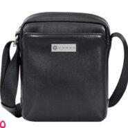 کیف دوشی مردانه چرم طبیعی مدل کراس کد AC241214B-1