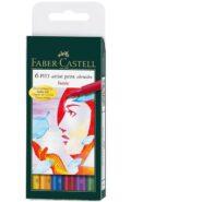 ماژیک پیت آرتیست فابر کاستل پک 6 عددی رنگ های اصلی قطر نوشتاری B