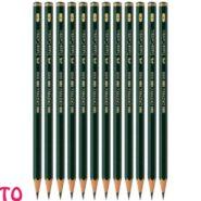 مداد طراحی فابر-کاستل مدل 9000 نوک F کد 23119010 بسته 12 عددی