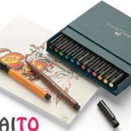 ماژیک حرفه ای فابر کاستل 12 رنگ Pitt Artist Brush کد 23167146