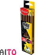 مداد طراحی مپد سه گوش ته صدفی مداد 2B کد 850022 بسته 12 عددی