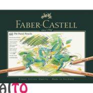 پاستل مدادی فابر کاستل 60 رنگ جعبه فلزی مدل پیت کد 23112160