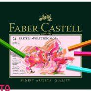 پاستل گچی 24 رنگ فابر کاستل مدل پلی کروم جعبه مقوایی کد 23128524