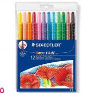 مداد شمعی پیچی 12 رنگ استدلر مدل نوریس کلاب کد 221NWP12