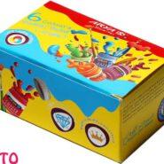 گواش 6 رنگ آریا جعبه مقوایی کد 4027