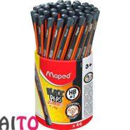مداد مپد مشکی سه گوش جامبو مداد HB کد 854059 لیوان 46 عددی