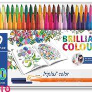 ماژیک 50 رنگ استدلر جعبه فلز مدل Triplus Color کد 323M50JB