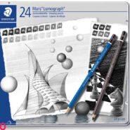 مداد طراحی استدلر مدل Mars Lumograph 100 G24 بسته 24 عددی