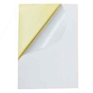 کاغذ پشت چسب دار A4 براق بسته 100 عددی