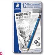 مداد طراحی استدلر مدل Mars Lumograph 100 G12 بسته 12 عددی