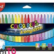 ماژیک رنگ آمیزی مپد 24 رنگ کالرپپس مدل Long Life کد 845022
