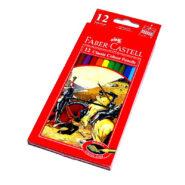 مداد رنگی فابر کاستل مدل classic جعبه مقوایی 12 رنگ