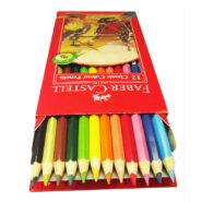 مداد رنگی فابر کاستل 12 رنگ مدل classic جعبه مقوایی