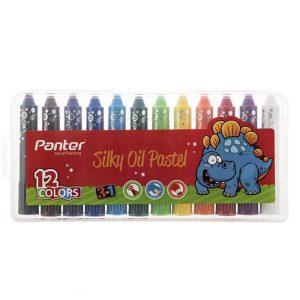 پاستل 12 رنگ روغنی پنتر مدل 3in1 Silky