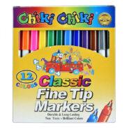 ماژیک رنگ آمیزی 12 رنگ چیکی چیکی Chiki Chiki کد LA43