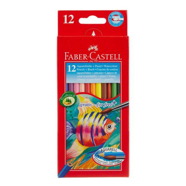مداد آبرنگی فابر کاستل 12 رنگ جعبه مقوایی