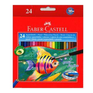 مداد آبرنگی فابر کاستل 24 رنگ جعبه مقوایی