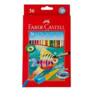 مداد آبرنگی فابر کاستل 36 رنگ جعبه مقوایی