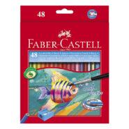 مداد آبرنگی فابر کاستل 48 رنگ جعبه مقوایی