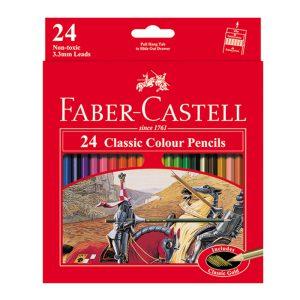 مداد رنگی 24 رنگ فابر کاستل مدل classic جعبه مقوایی