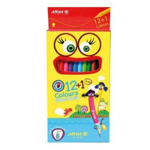 مداد رنگی 12 رنگ آریا جعبه مقوایی مدل 3016