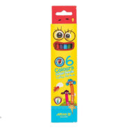 مداد رنگی 6 رنگ آریا جعبه مقوایی مدل 3011