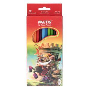 مداد رنگی 12 رنگ فکتیس جعبه مقوایی