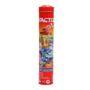 مداد رنگی 12 رنگ فکتیس جعبه استوانه ای