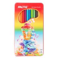 مداد رنگی 12 رنگ فکتیس جعبه فلزی