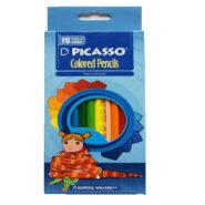 مداد رنگی پیکاسو 12 رنگ جعبه مقوایی