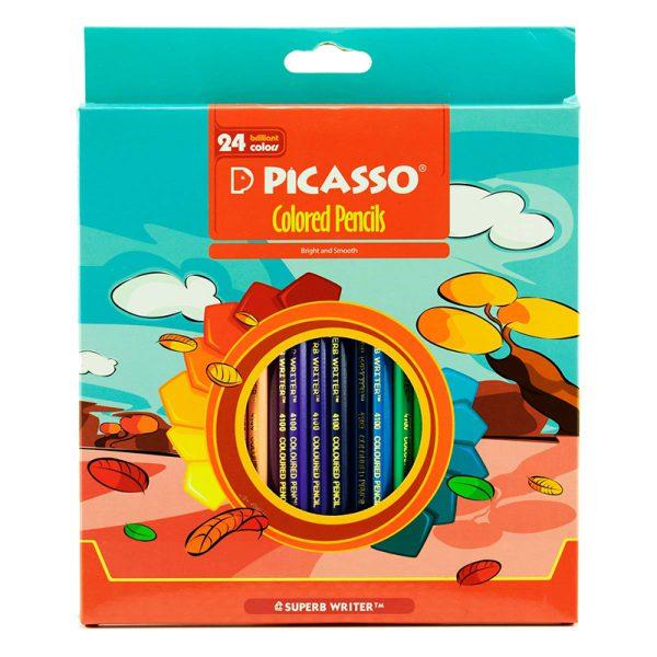مداد رنگی پیکاسو 24 رنگ جعبه مقوایی