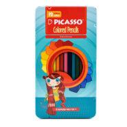 مداد رنگی پیکاسو 12 رنگ جعبه فلزی