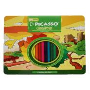 مداد رنگی پیکاسو 24 رنگ جعبه فلزی