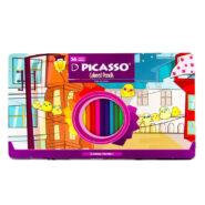 مداد رنگی پیکاسو 36 رنگ جعبه فلزی