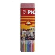 مداد رنگی 36 رنگ پیکاسو سه گوش جعبه فلزی