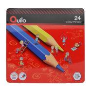 مداد رنگی کویلو 24 رنگ جعبه فلزی کد 634007