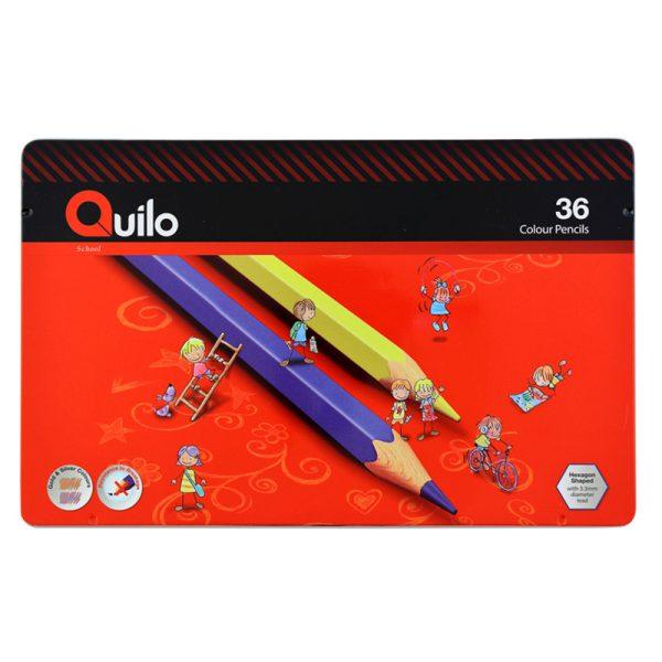 مداد رنگی کویلو 36 رنگ جعبه فلزی 634008