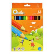 مداد رنگی جامبو کوییلو 12 رنگ جعبه مقوایی کد 634012